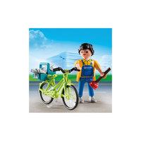 Экстра-набор: Мастер с инструментами на велосипеде, PLAYMOBIL Playmobil®