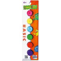 Набор акриловых красок с кисточкой, 6 цветов Kribly Boo