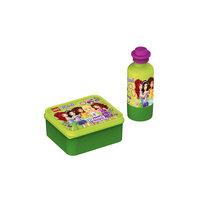 Набор бутылочка и контейнер для ланча, Лего Friends, зеленый Jazwares