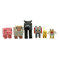 Набор фигурок 6в1, 8см, Minecraft Jazwares