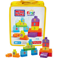 Конструктор «Строй и учись считать» First Builders MEGA BLOKS