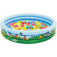 Детский круглый бассейн (140 л) + 75 шариков, Bestway