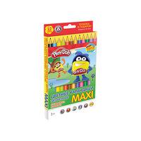 """Цветные карандаши """"Maxi"""" 12 цветов, Play-Doh Академия групп"""
