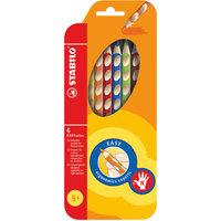 Набор цветных карандашей для правшей, 6 цв., EASYCOLORS Stabilo