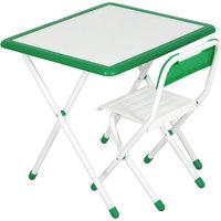 Набор детской складной мебели, бело-зеленый Дэми