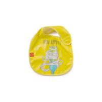 Нагрудник на липучке, Happy Baby, желтый