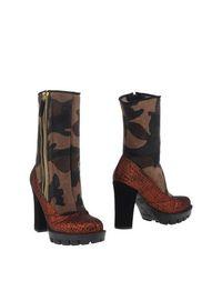 Коричневые Полусапоги и высокие ботинки Kristina TI