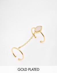Кольцо с цепочкой и розовым кварцем эксклюзивно для Ottoman Hands
