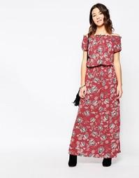 Платье макси First & I Boho - Розовое дерево