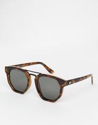 Черепаховые солнцезащитные очки с планкой Le Specs Thunderdome