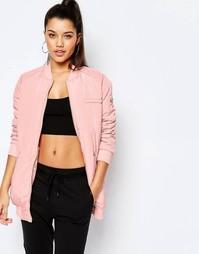 Длинная уплотненная куртка-пилот Missguided - Румяный розовый
