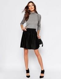 Шелковая юбка Selected Remmi - Черный