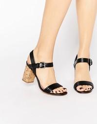 Босоножки на пробковом каблуке Carvela - Black synthetic
