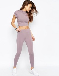 Укороченные леггинсы ASOS - Фиолетовый