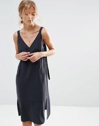 Платье-сорочка ASOS - Черный
