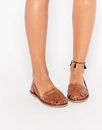 Кожаные туфли Boohoo Huarache - Рыжий