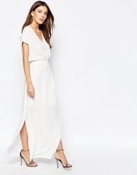 Платье макси Selected Vonna Sl - Снежно-белый
