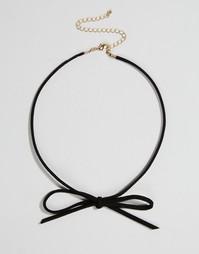 Ожерелье-чокер с бантиком ASOS - Черный