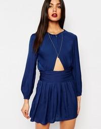 Платье мини с длинными рукавами Bec & Bridge Samira - Синий