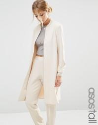 Удлиненная куртка‑пилот ASOS TALL Co-ord - Кремовый