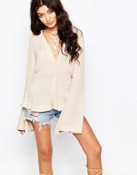 Блузка с рукавами-колоколом Free People Boho - Pearl
