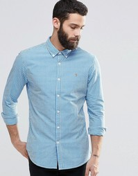 Приталенная рубашка в клетку Farah - Синий