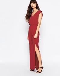 Платье макси с поясом Minimum - 470 темно-красный