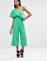 Комбинезон с юбкой‑шортами и асимметричной накладкой Lavish Alice
