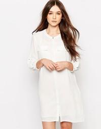 Удлиненная рубашка Vero Moda - Белый