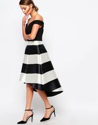 Платье с полосками Coast Kate - Черно-белый