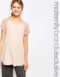 Трикотажная футболка свободного кроя Bluebelle Maternity - Розовый