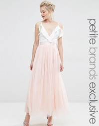 Пышная юбка миди для выпускного True Decadence Petite - Peach