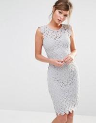 Кружевное платье Paper Dolls - Светло-серый