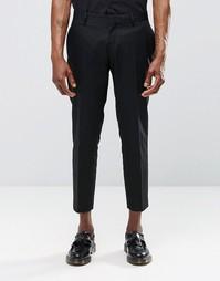 Укороченные строгие черные брюки скинни Religion - Черный