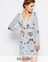Платье мини с длинными рукавами и вырезом сзади Frock and Frill