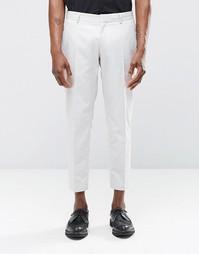 Укороченные строгие светло-серые брюки скинни Religion - Светло-серый