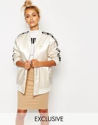 Атласная куртка-пилот цвета шампанского Puma - Серый кристалл