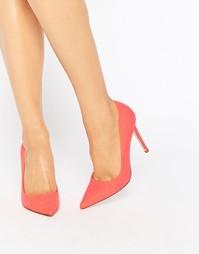 Туфли на высоком каблуке с острым носком ASOS PERU - Горячий коралл