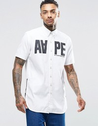 Классическая рубашка слим с короткими рукавами AAPE By A Bathing Ape