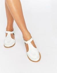 Кожаные туфли ASOS JABEL - Белый