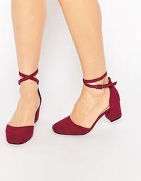 Туфли на каблуке ASOS SIGHTING - Темно-бордовый
