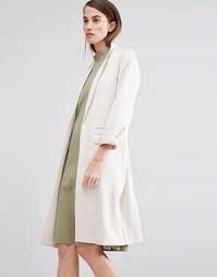Пальто с поясом Selected Miriam - Бежевый