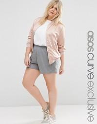 ASOS CURVE Basic Jersey Shorts - Серый меланж