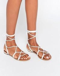 Плоские сандалии на завязках Call It Spring Cargalla - Белый