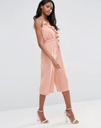 Комбинезон с юбкой-шортами и оборкой Influence - Роза