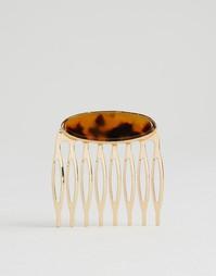 Заколка с животным принтом DesignB London - Золотой