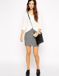 Фактурная мини-юбка Esprit - Серый