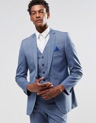 Светло-голубой пиджак узкого кроя Harry Brown - Синий