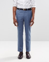 Голубые брюки слим Harry Brown - Синий
