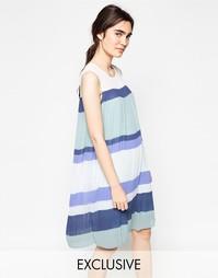 Плиссированное платье в стиле колор блок Y.A.S - Разноцветный